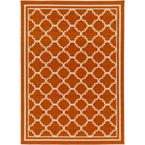 Marina Rust and Ivory Rectangular: 7 Ft 10 In x 10 Ft 3 In Rug - (In Rectangular)