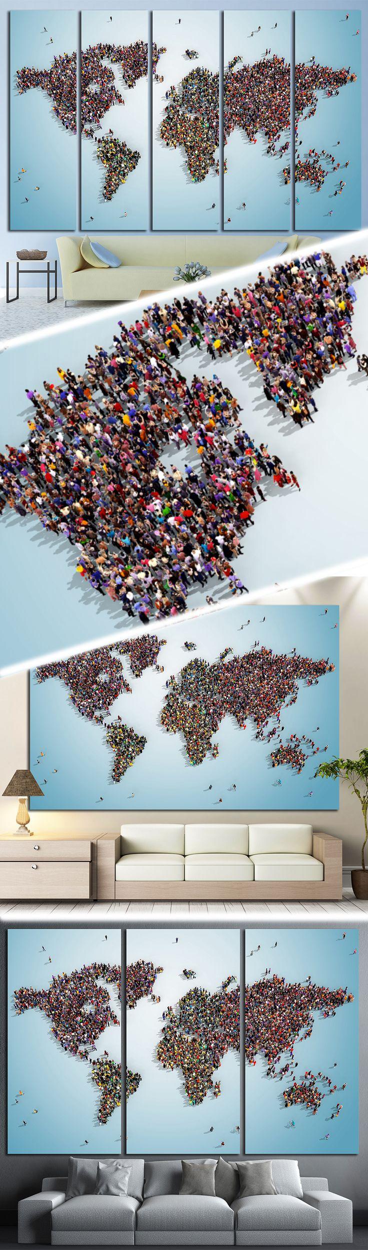 world map with bluish background 1325 Framed
