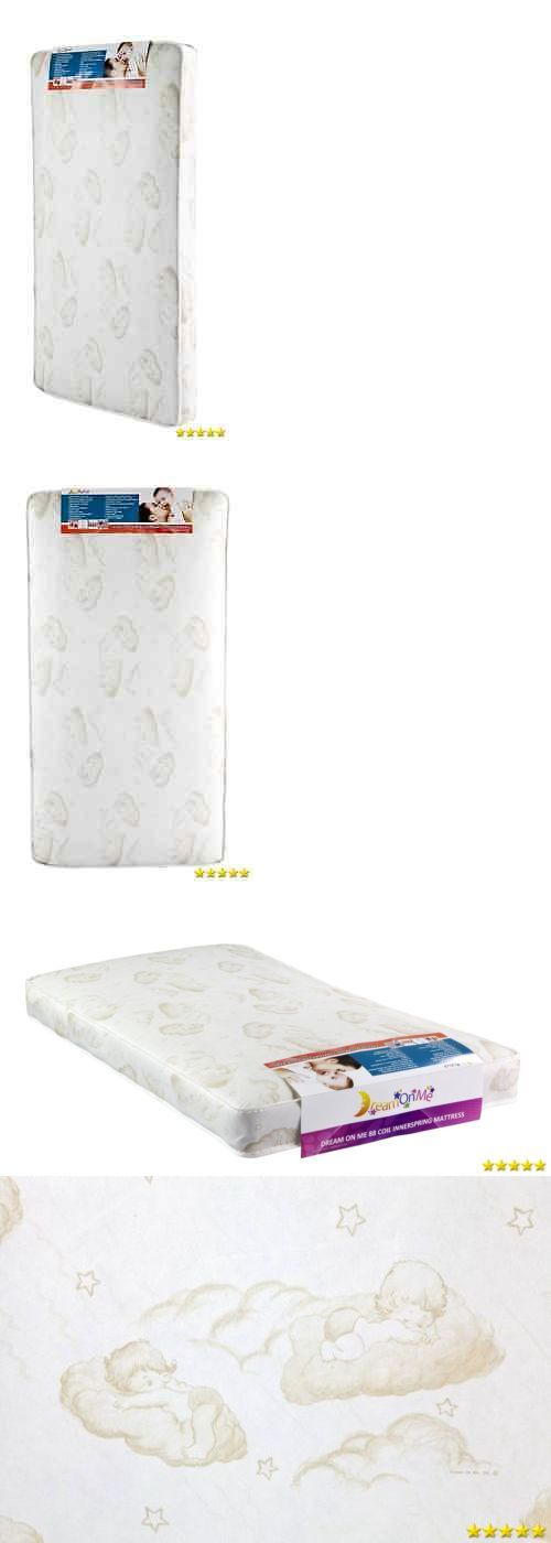 Baby Nursery: Dream On Me Spring Crib And Toddler Bed Mattress Twilight 80 New BUY IT NOW ONLY: $39.07