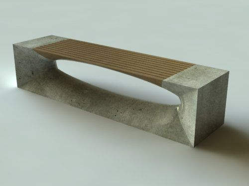 concrete and wood bench                                                                                                                                                                                 More
