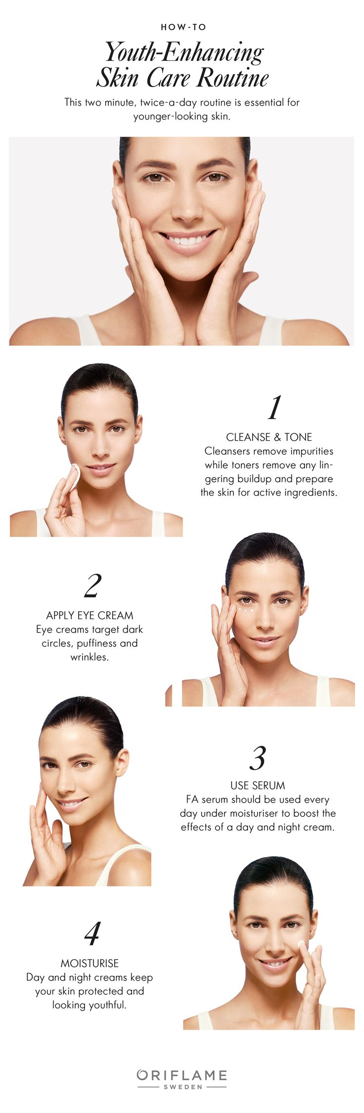 For youthful-looking skin, just follow this two-minute, twice-a-day routine!