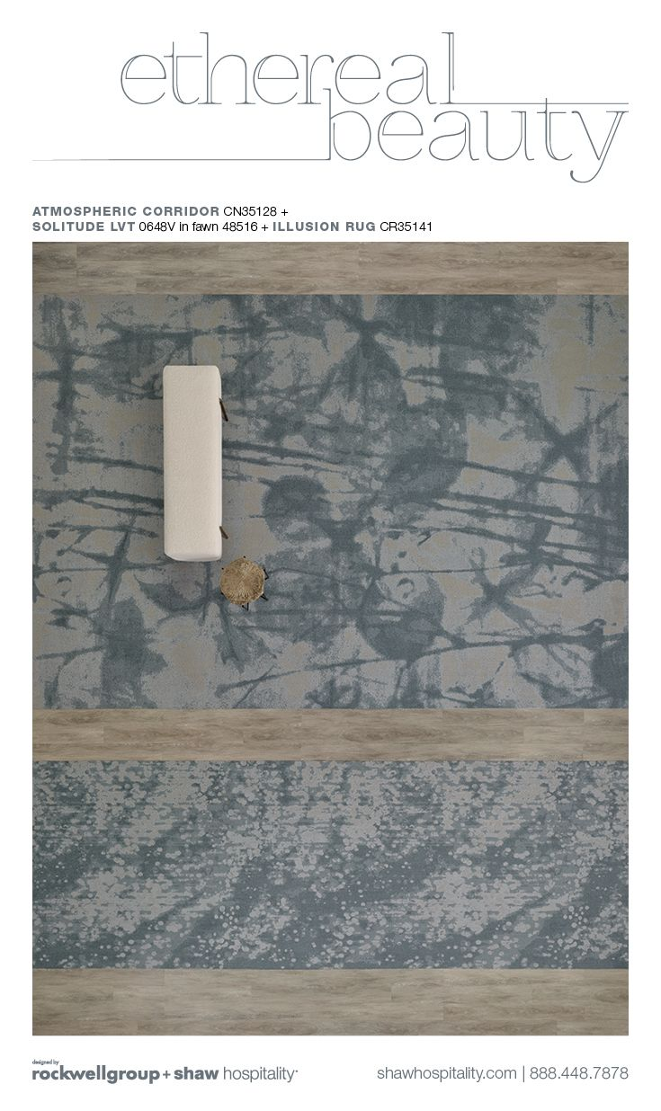 Shaw Hospitality Custom Hotel Carpet for Public Space. Hotel Rug from Ethereal Collection.