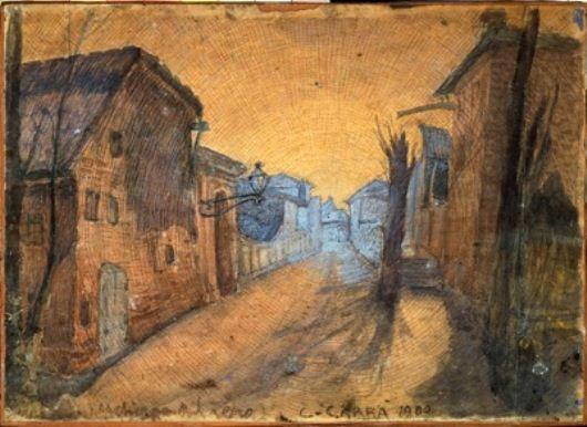 Carlo Carra - La strada di Casa
