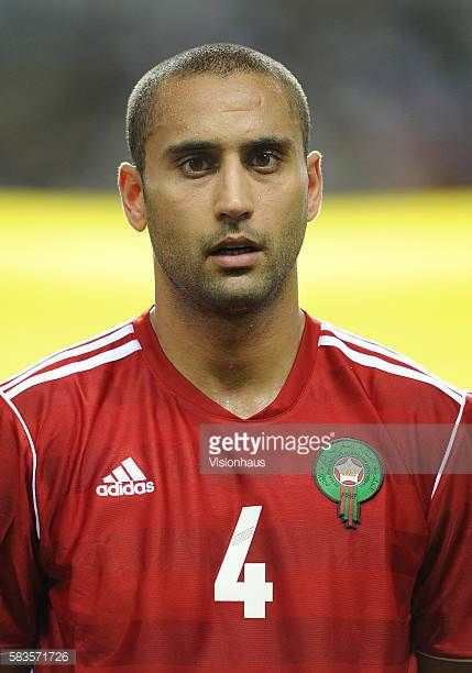 Ahmed Kantari of Morocco during the 2012 African Cup of Nations Group C match between Morocco and Tunisa at the Stade de l'Amitie in Libreville Gabon...