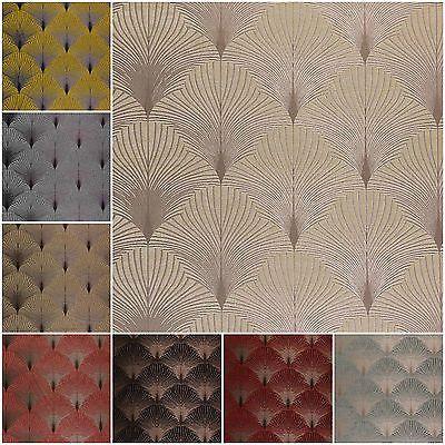 Details about Fibre Naturelle New York Chenille Art Deco Curtain Upholstery…