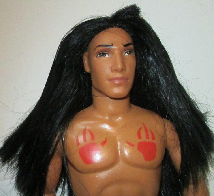 Disney Mattel Pocahontas KOCOUM Native American Indian Male Doll nude for OOAK #Mattel