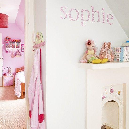 Pink children's bedrooms | Children's bedroom ideas | Wall stickers | Image | Housetohome