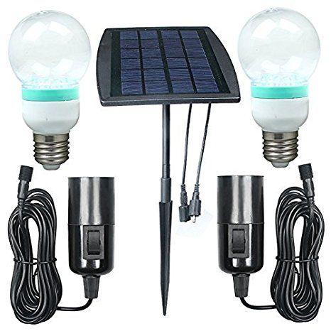 bonachat kit d 39 clairage luminaire ext rieur lampe solaire jardin ampoule led panneau solaire. Black Bedroom Furniture Sets. Home Design Ideas