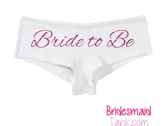 Bride to Be BLING UndiesBoyshortsBride to Be by BridesmaidTank