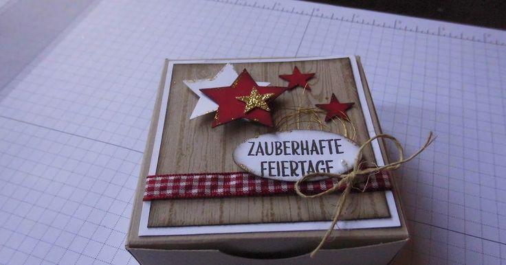 """Huhu, ich hatte euch ja in den letzten Tagen eine Kartenbox für 7,5 x7,5 cm - große Karten gezeigt, die Box war eine """"Pizza-Box"""", doch so ..."""