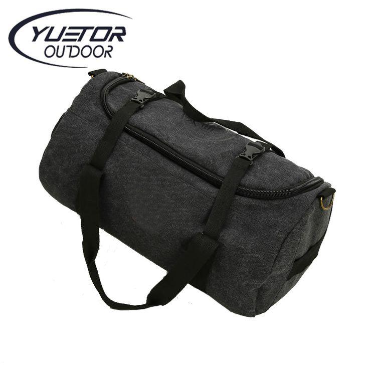 YUETOR Canvas Sport Bag Training Gym Men Woman Fitness Bags Durable Multifunction Handbag Outdoor Sporting