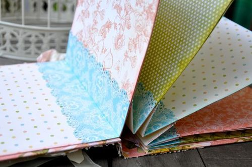 Susan Lui Graphic 45 Mini Album with step-by-step instructions for the base of the album