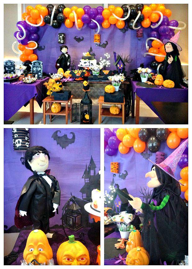 Festinha infantil de Dia das Bruxas  Mais uma vez criamos uma festinha incrível com o tema Halloween . Vejam o resultado abaixo .       Mu...