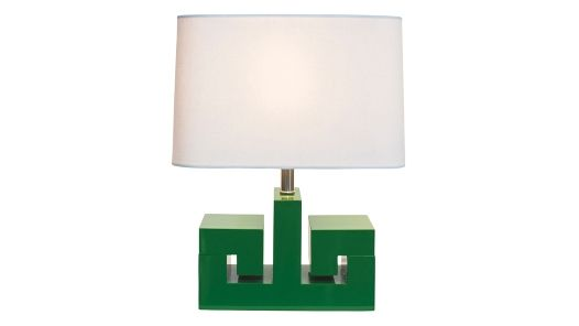 Green is gold and if that's your color du jour, we've got the goods for you. From handmade dinnerware to tabletop accessories and even a contemporary lamp that shines, check out these 12 decor finds that will turn your home into the Emerald City.