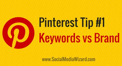 Pinterest Marketing Tip #1: Stuff some keywords into your #Pinterest Profile name so that people can find you easier. Read how