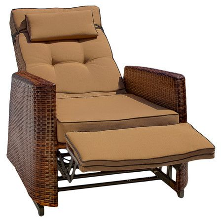 Lounge Comfortably On Your Patio Or Veranda With This Wicker Inspired  Outdoor Recliner, Showcasing · Beach Style Outdoor ChairsOutdoor ... Part 95