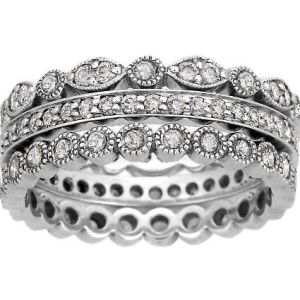 Awesome Tiffany style stacking ring Want this one new each decade or for each kid