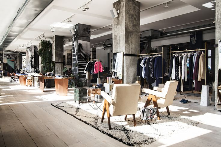 Fashion , Beauty parlour , barbershop , Café | a concept store with designer clothing like Balenciaga , The Row , Porenza Schouler , Ann Demeulemeester a have - to - go if you would like to be pampered just the best finds a place here Soho House • The Store , Torstrasse 1 , 10119 Berlin