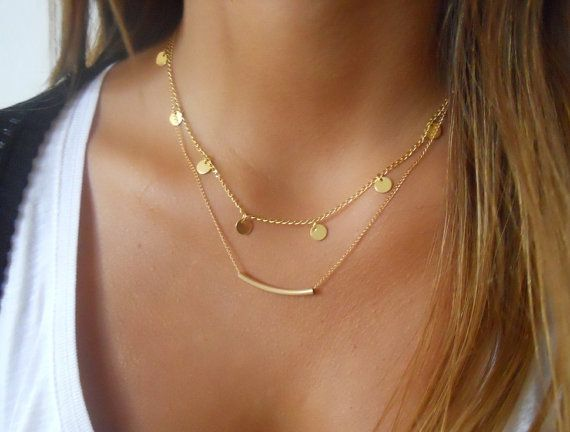Hey, I found this really awesome Etsy listing at https://www.etsy.com/listing/201690412/gold-layered-necklace-set-coins-and-tube