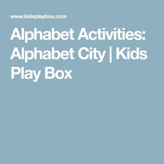 Alphabet Activities: Alphabet City | Kids Play Box