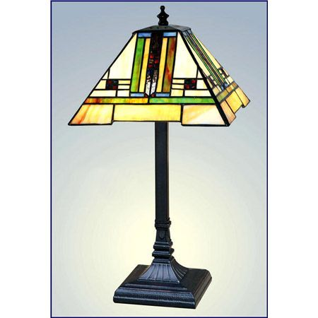 Small craftsman table lamp.