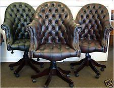chesterfields of England Queen Anne pictures | Chesterfield Directors executive office chair brand new