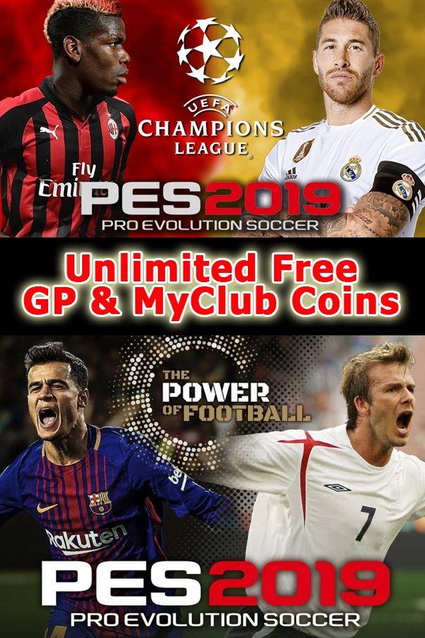 Pes 2019 Unlimited Free Gp Myclub Coins Pro Evolution Soccer Disney Movie Rewards Evolution Soccer