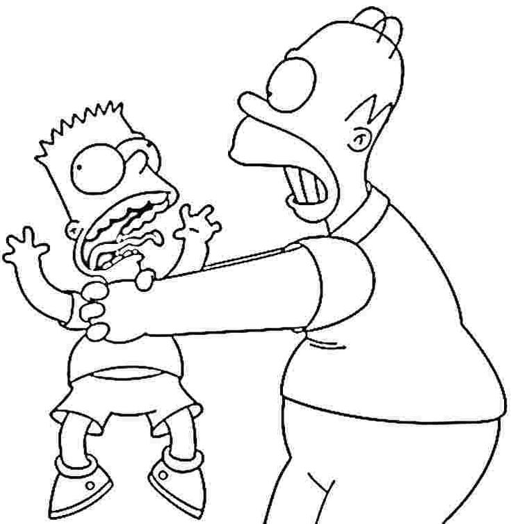 bartman simpsons coloring pages - photo#23