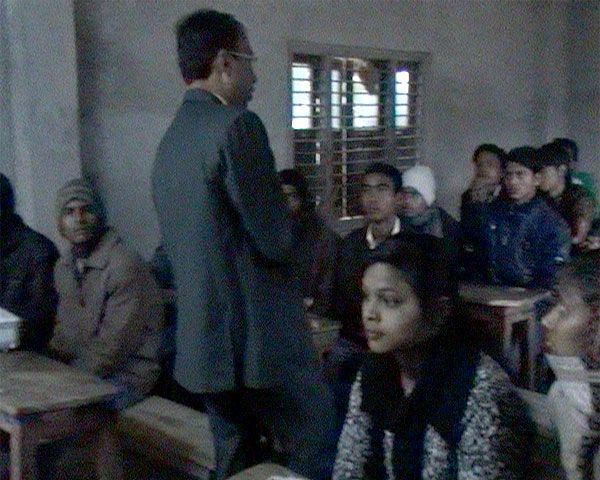 Interacting with the students of Public Youth Campus during Youth Empowerment Program by the founder director of JKKF