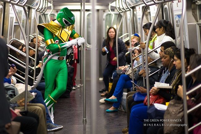 power rangers subway ride