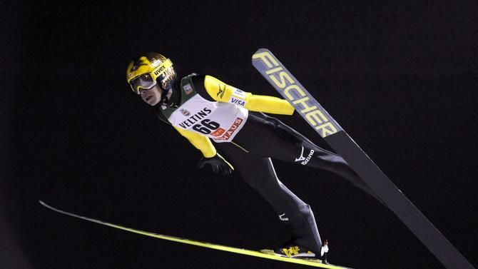 ▼29Nov2014ReutersViaYahoo!News|Japan's Noriaki Kasai soars through the air during the men's ski jumping HS 142 Large Hill Individual event at the FIS World Cup Ruka Nordic Opening 2014 in Kuusamo, November 29, 2014. REUTERS/Heikki Saukkomaa/Lehtikuva (FINLAND - Tags: SPORT SKIING) http://news.yahoo.com/photos/japans-kasai-soars-air-during-mens-hs-142-photo-171704609.html