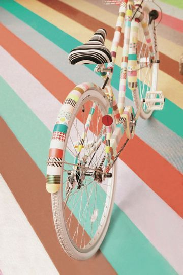 Masking Tape mania, je customise aussi mon vélo ! -
