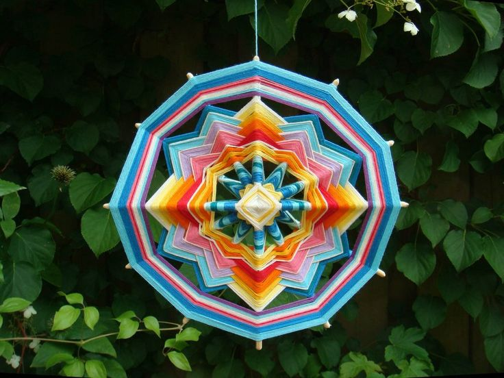 Huichol Art ~ Wool thread Mandala Art by Cloe