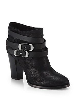 Jimmy Choo Melba Leather & Suede Ankle Boots