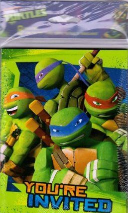 Ninja Tutrles Invitations by tnmt. $8.99. 8 count envelopes included. Teenage Mutant Ninja Turtles Party Invitations. 8 count Invitations in Package. Teenage Mutant Ninja Turtles Party Invitaions, 8 ct. in the pack. Envelopes included