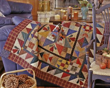 Hearthside Memories   Quilt designer: Kim Diehl  From American  Patchwork & Quilting, December 2002