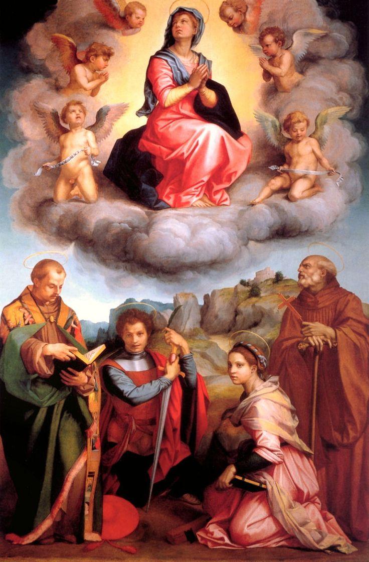 The Madonna in Glory LORENZO LOTTO c. 1533