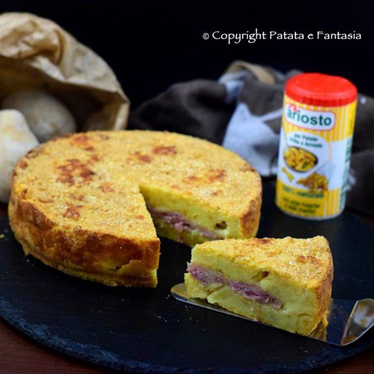 Torta salata patate e prosciutto