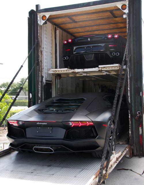 : Cars Storage, Trucks, Luxury Life, Cars Motorcycles, Clean Line, Cool Cars, Ferrari, Matte Black, Lamborghini Aventador