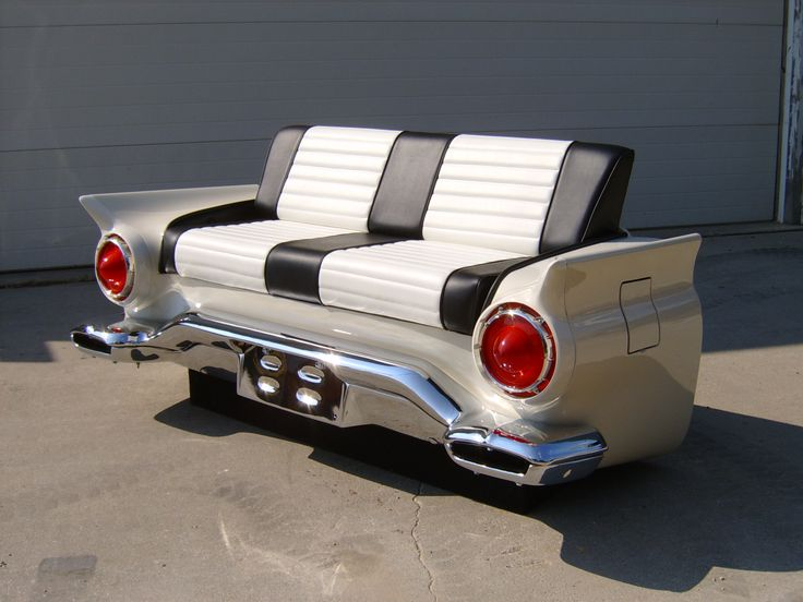 Classic car furniture classic couches car couches made for Furniture made from cars