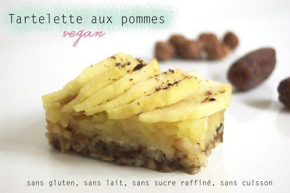 Tartelette aux pommes sans gluten, sans lait, sans sucre raffiné, sans cuisson !