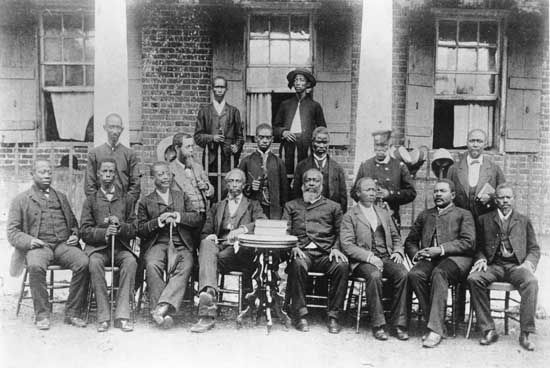 Liberia: members of Liberian cabinet, 1880's [Credit: Library of Congress, Washington, D.C.]