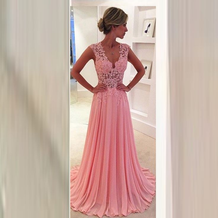 Find More Prom Dresses Information about Elegant Pink Prom Dresses Appliques Ruched Transparent Back Prom Gowns vestidos do baile de finalistas Lace V Neck A Line Dress,High Quality dresse,China gown evening Suppliers, Cheap dress tails from Cinderella Dreaming Dresses on Aliexpress.com
