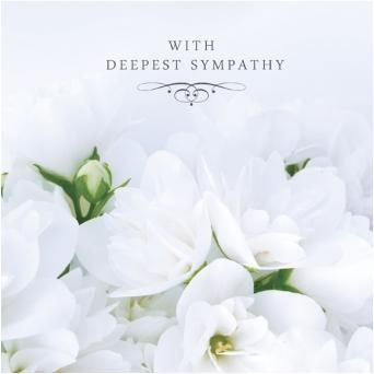 deepest sympathy | With Deepest Sympathy Condolence Card - £2.40 - A great range of With ...