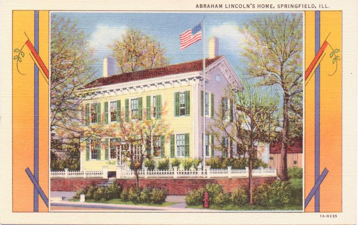 Springfield, Illinois, Abraham Lincoln's Home - Linen Postcard - Unused (W) by postcardsofthepast on Etsy https://www.etsy.com/listing/293590755/springfield-illinois-abraham-lincolns