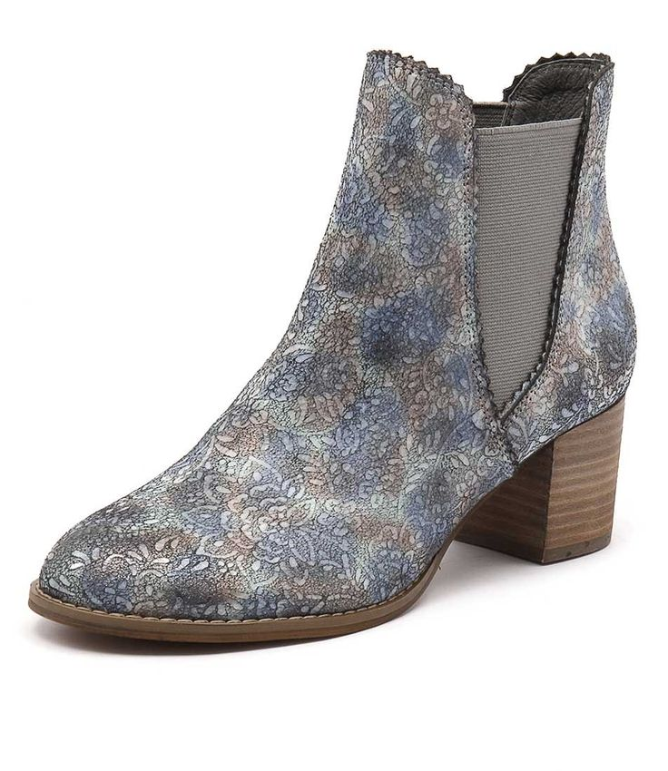 Brighten everyday looks with this delightful ankle boot. Featuring a gorgeous embossed upper, this boot will definitely be the show piece of your outfit. Style them with denim jeans, leggings, and mid-length skirts. Shop 'Salist Pastel Multi' by Django & Juliette  at styletread.com.au