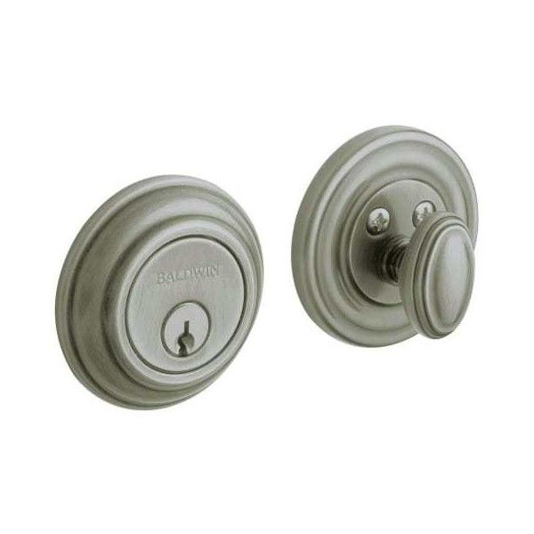 Baldwin 8231 Traditional Single Cylinder Deadbolt Antique Nickel ($53) ❤ liked on Polyvore featuring home, home decor, small item storage, antique nickel, deadbolt, keyed entry, single cylinder, baldwin door hardware, cross home decor and spring home decor
