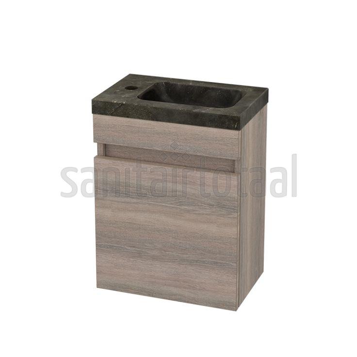 Landelijk toiletmeubel, hout, steigerhout, natuursteen, modern, fonteintje, fontein toilet, fonteinmeubel maken