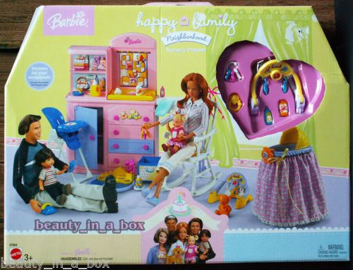 Happy Family Nursery Playset Only for Barbie Ken Doll Midge Nikki Alan Ryan Tot | eBay