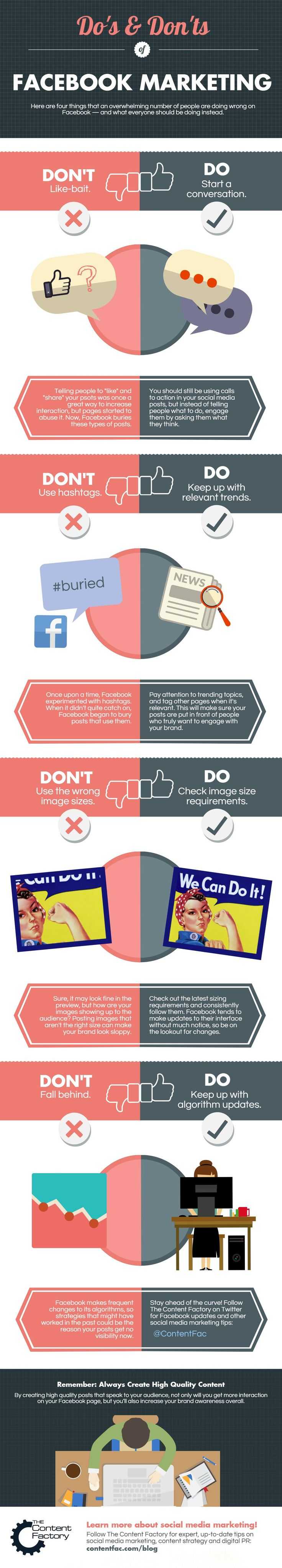 Facebook Marketing Strategy Fails: Do This, Not That #Infographic